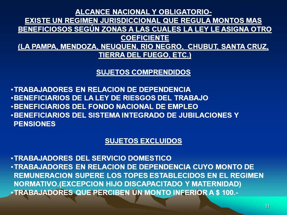 ALCANCE NACIONAL Y OBLIGATORIO-
