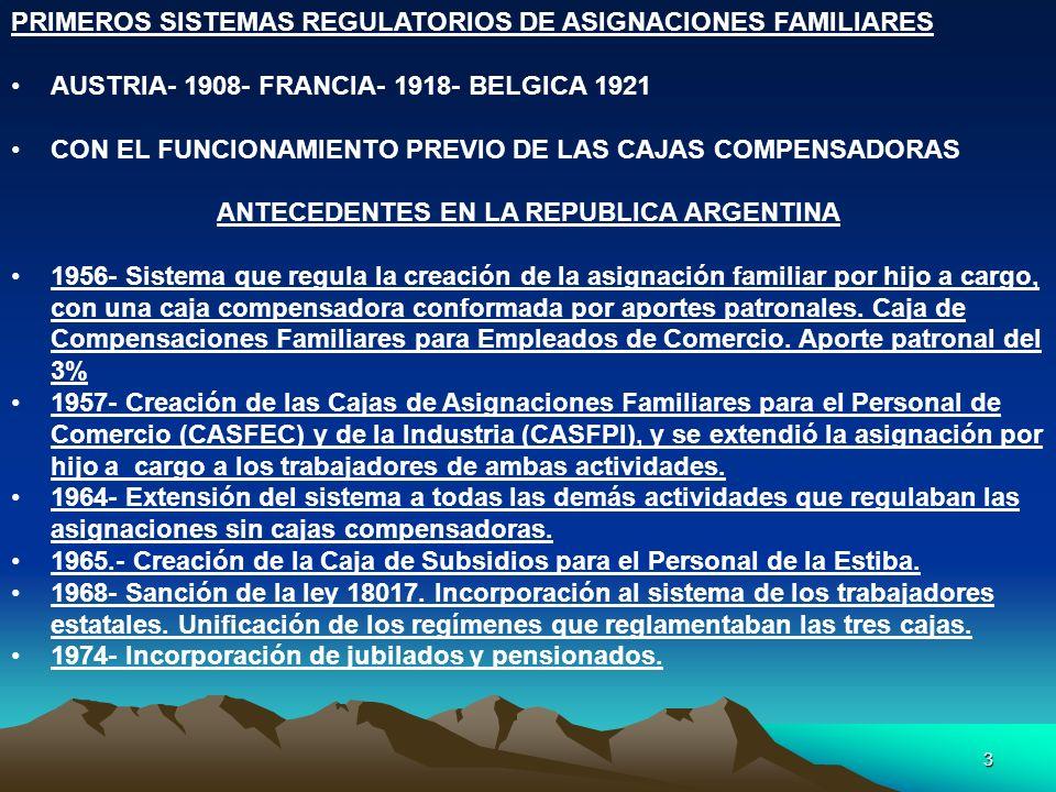 ANTECEDENTES EN LA REPUBLICA ARGENTINA