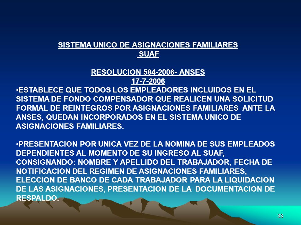 SISTEMA UNICO DE ASIGNACIONES FAMILIARES