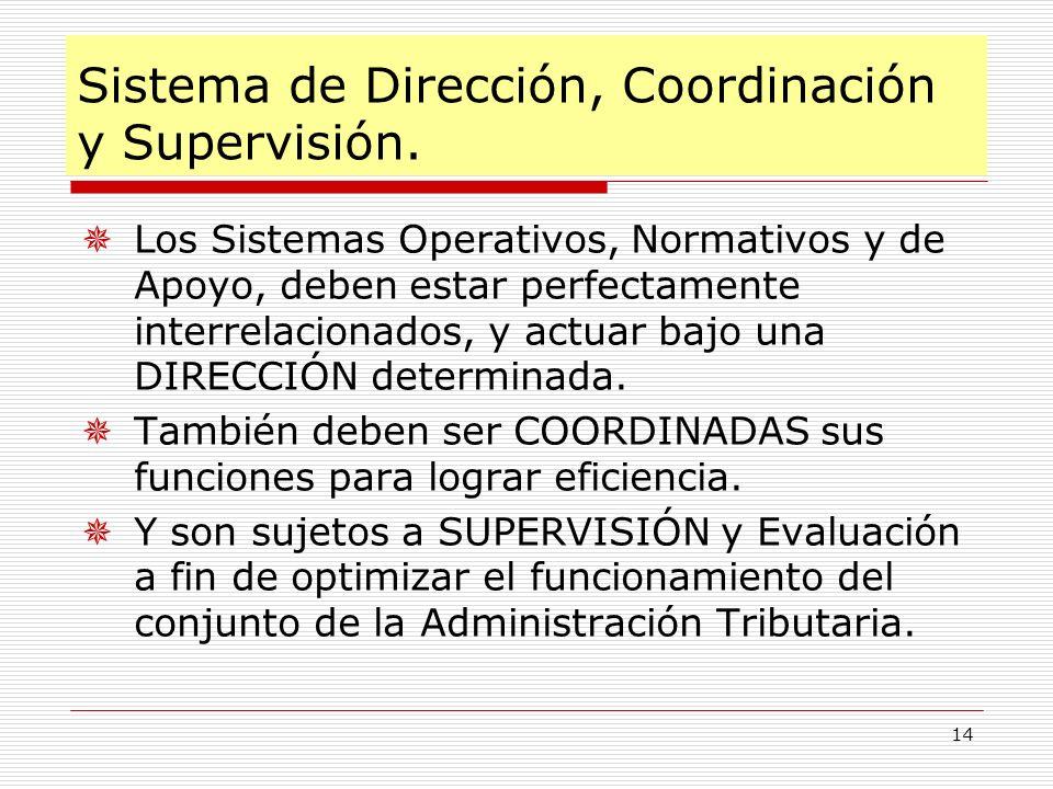 Sistema de Dirección, Coordinación y Supervisión.