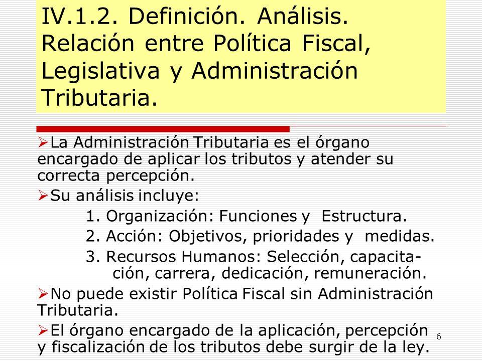 IV. 1. 2. Definición. Análisis
