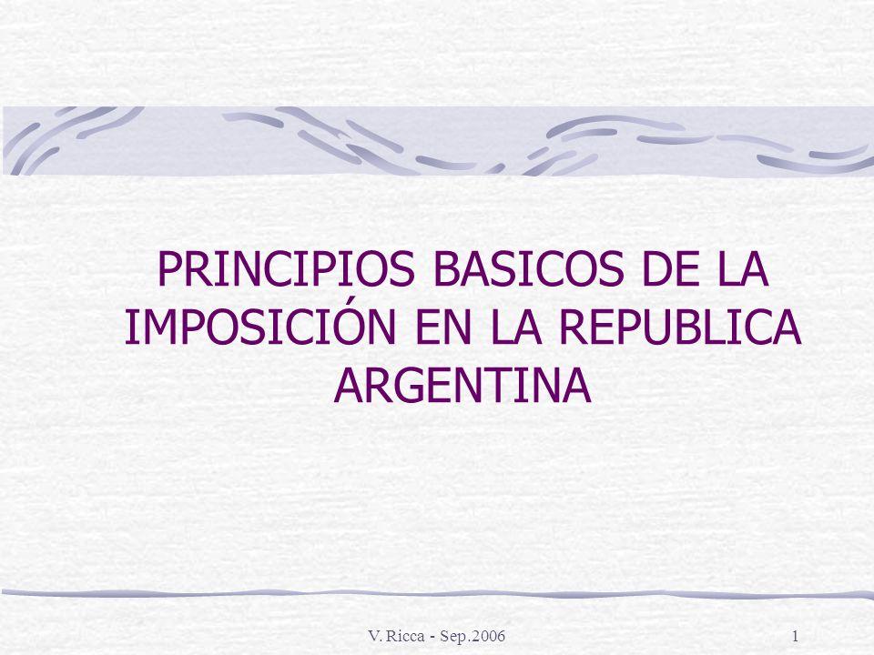 PRINCIPIOS BASICOS DE LA IMPOSICIÓN EN LA REPUBLICA ARGENTINA