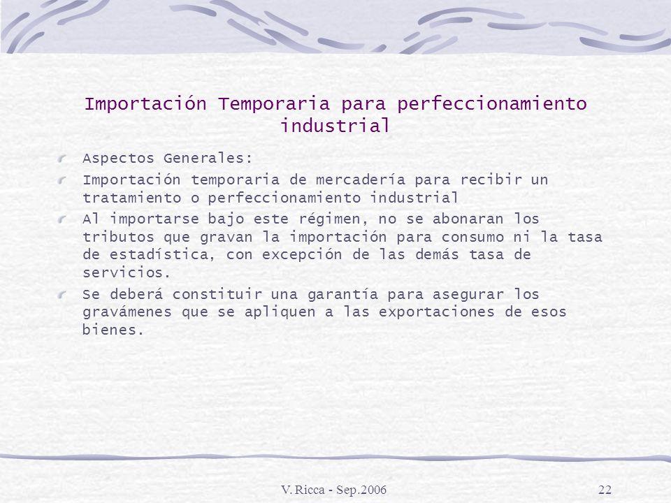 Importación Temporaria para perfeccionamiento industrial