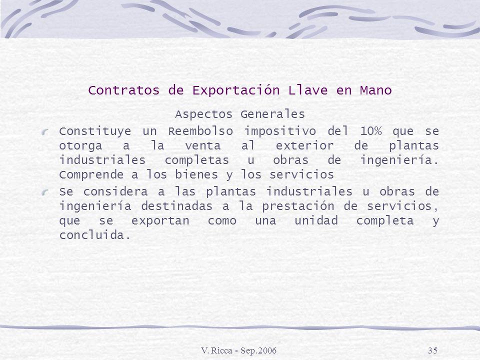 Contratos de Exportación Llave en Mano