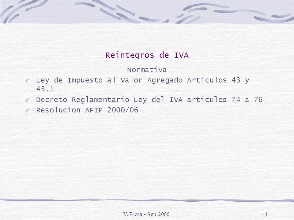 Reintegros de IVA Normativa