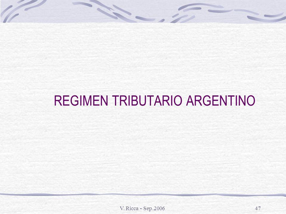 REGIMEN TRIBUTARIO ARGENTINO