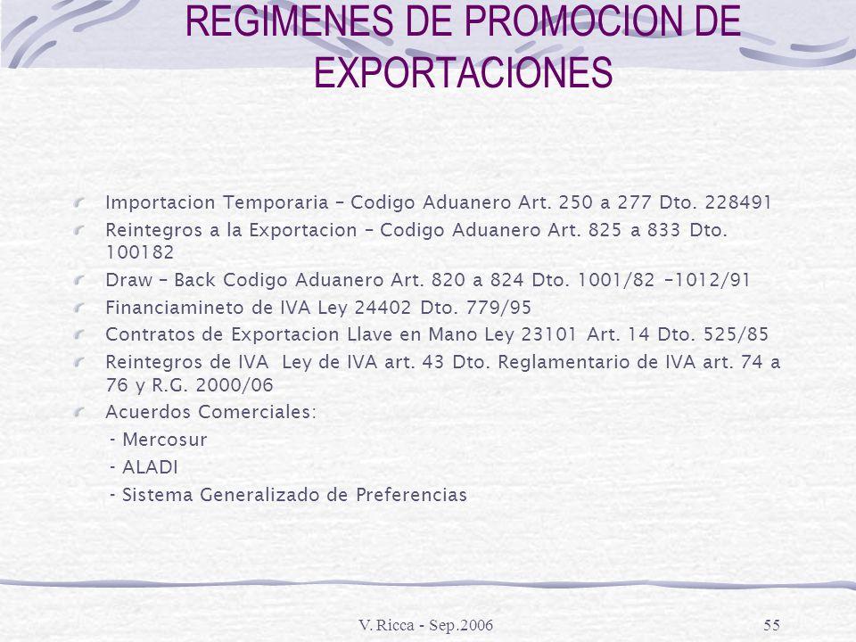 REGIMENES DE PROMOCION DE EXPORTACIONES