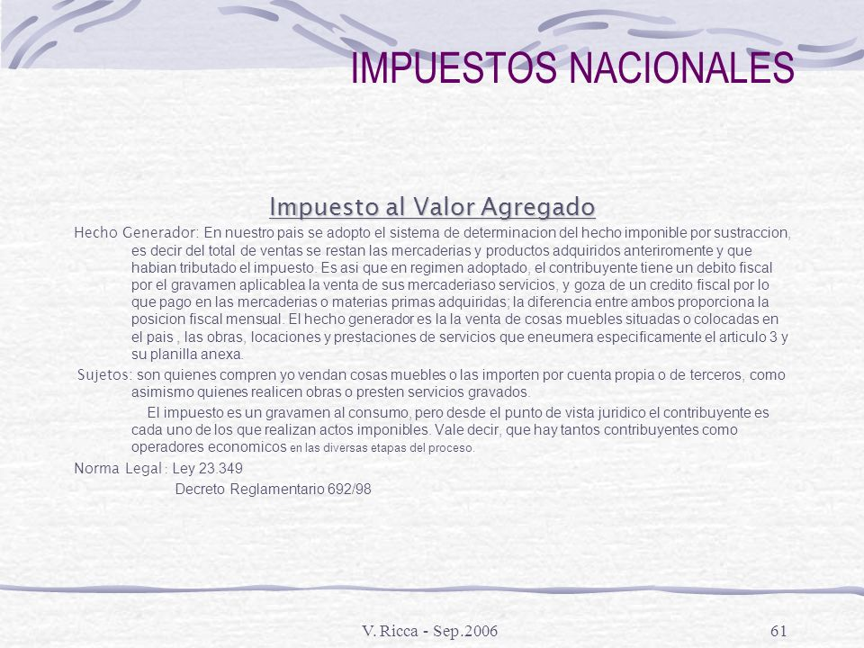 Impuesto al Valor Agregado