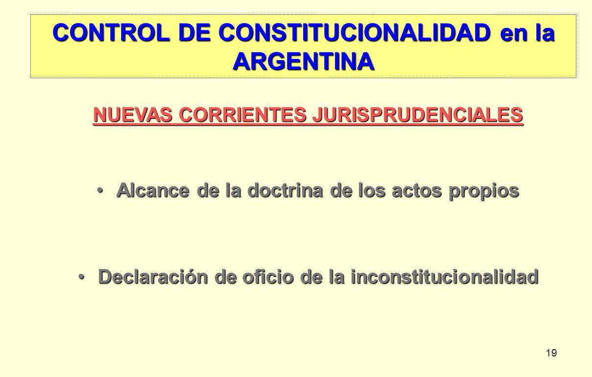 CONTROL DE CONSTITUCIONALIDAD en la ARGENTINA