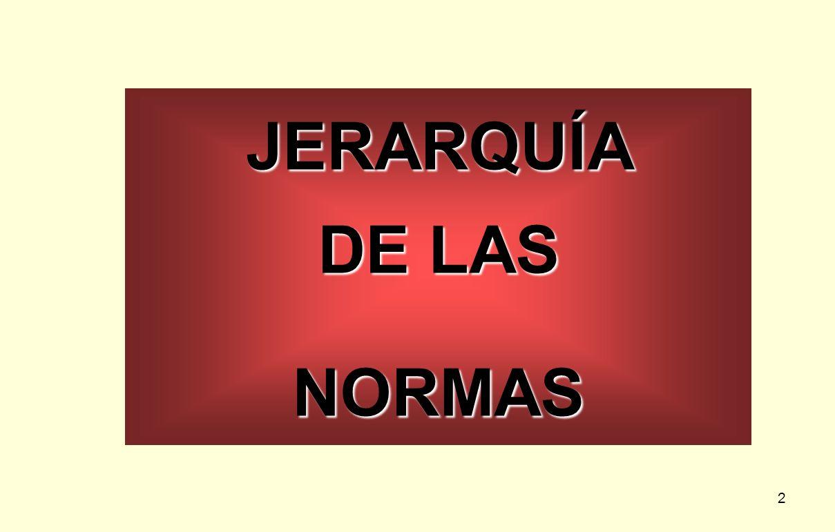 JERARQUÍA DE LAS NORMAS