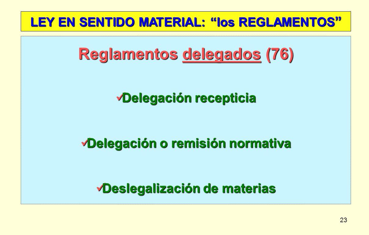 Reglamentos delegados (76)