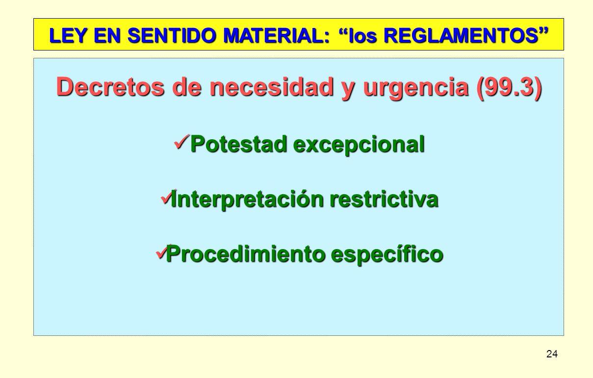 Decretos de necesidad y urgencia (99.3)