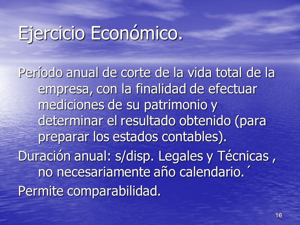 Ejercicio Económico.