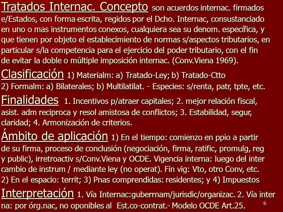 Tratados Internac. Concepto son acuerdos internac. firmados
