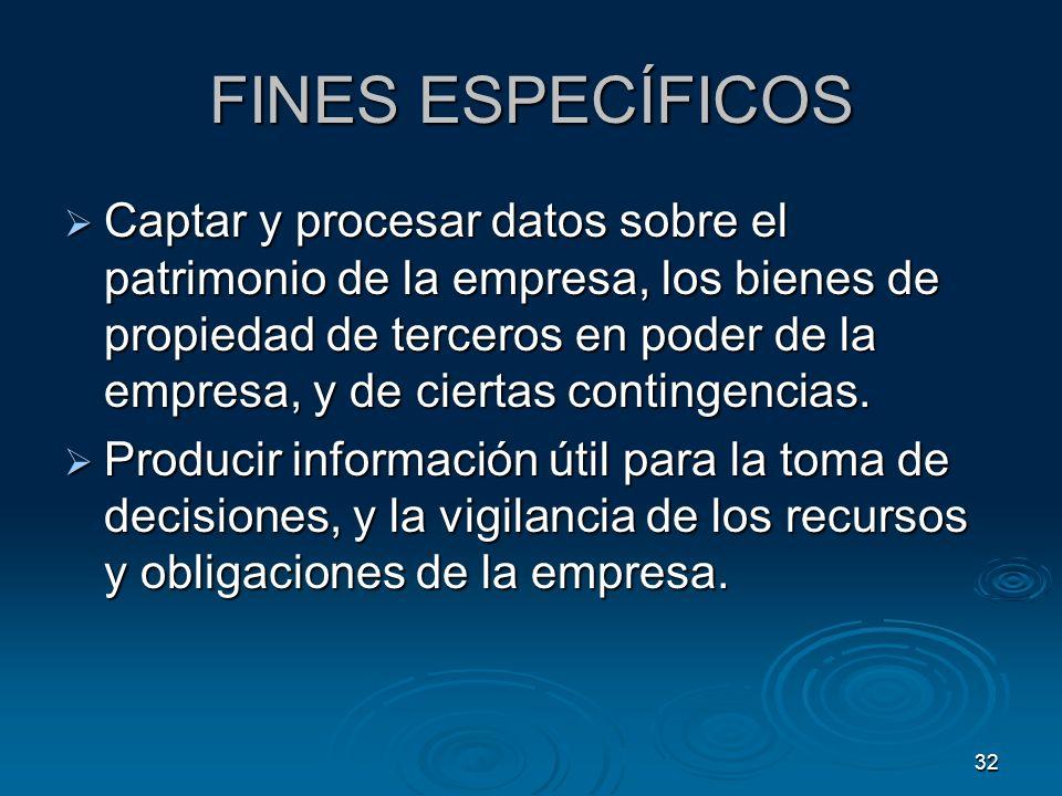 FINES ESPECÍFICOS