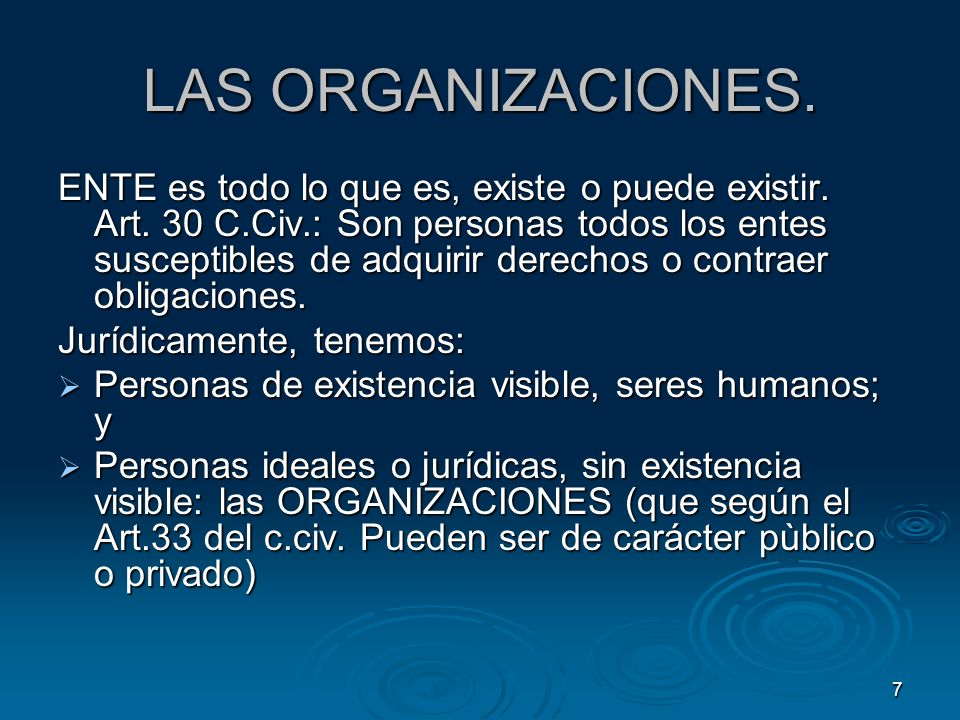LAS ORGANIZACIONES.