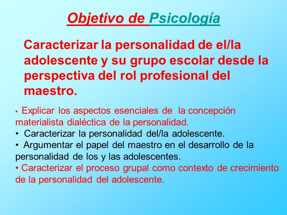 Objetivo de Psicología