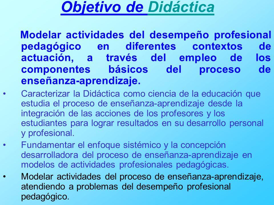 Objetivo de Didáctica