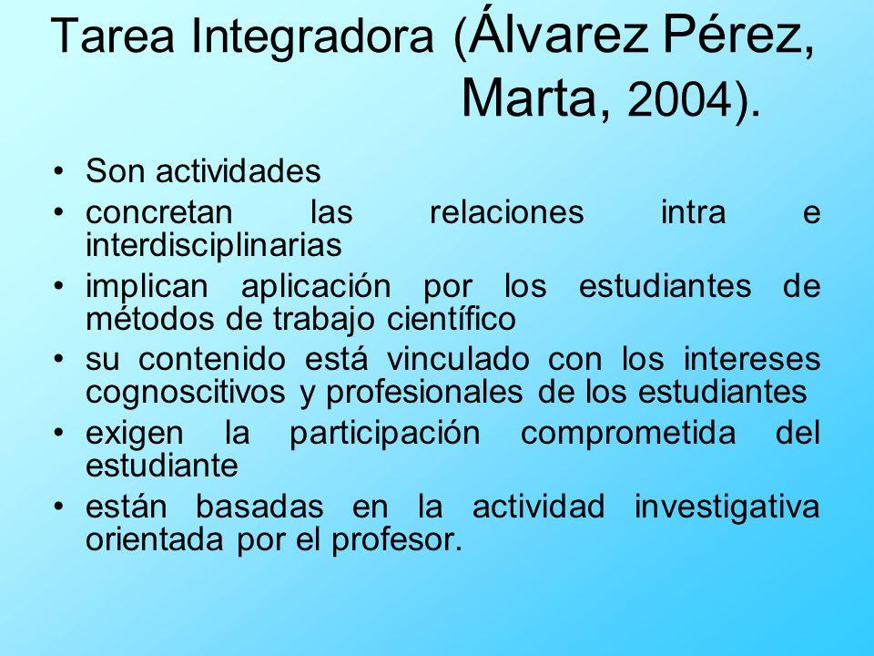 Tarea Integradora (Álvarez Pérez, Marta, 2004).