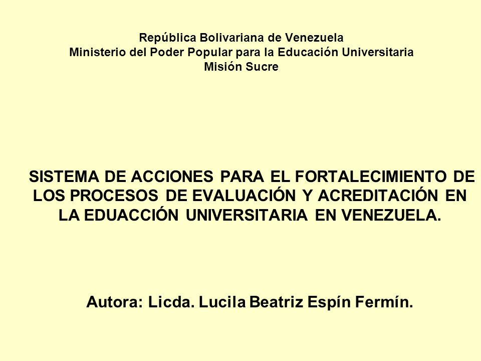 Autora: Licda. Lucila Beatriz Espín Fermín.