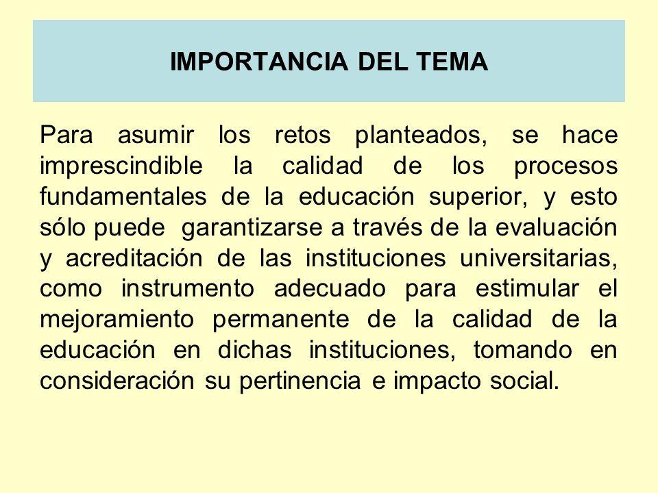 IMPORTANCIA DEL TEMA