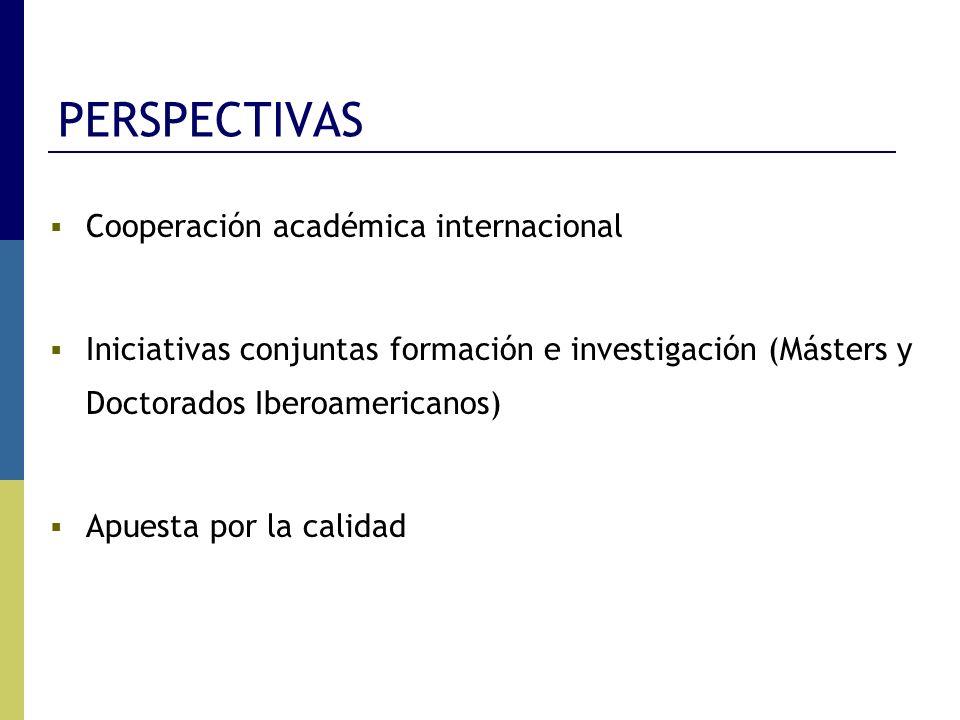 PERSPECTIVAS Cooperación académica internacional