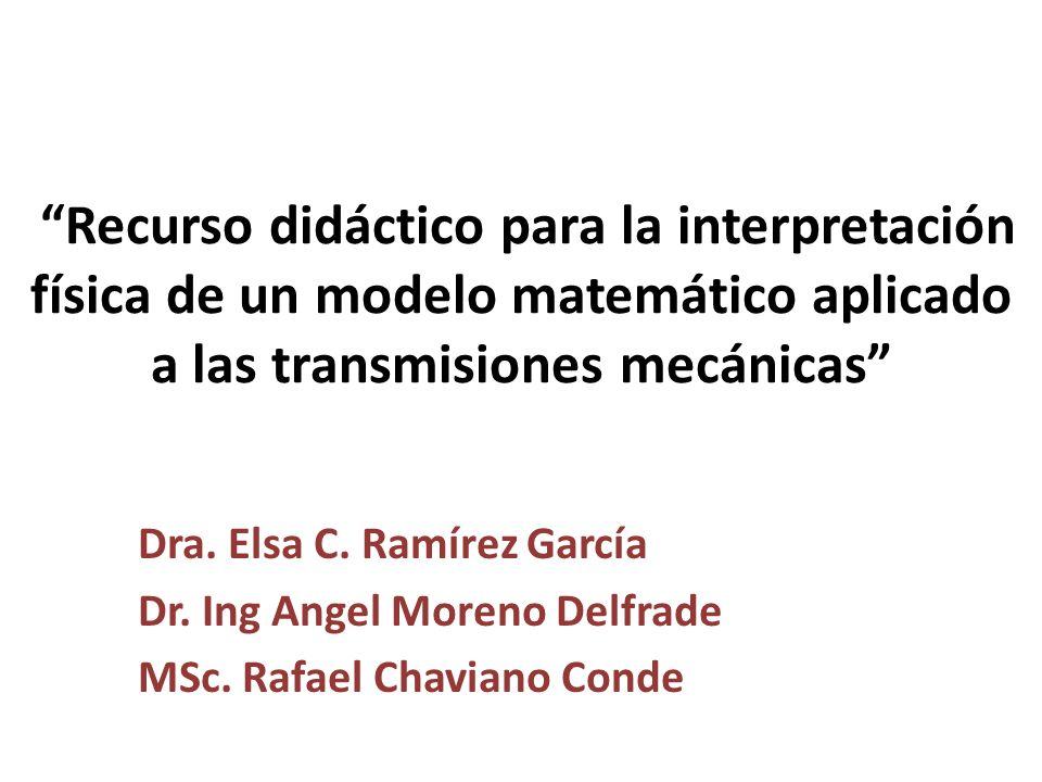 Recurso didáctico para la interpretación física de un modelo matemático aplicado a las transmisiones mecánicas