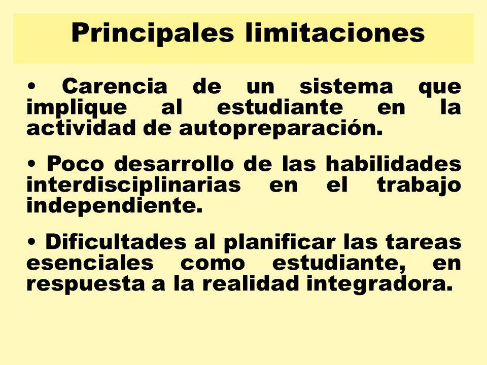 Principales limitaciones