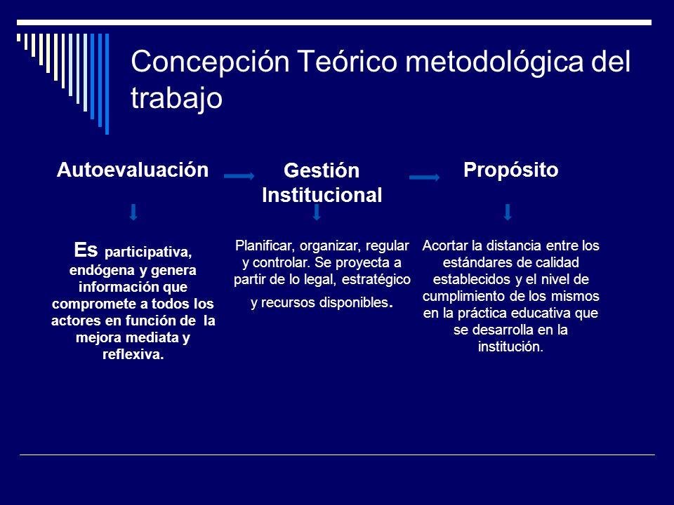 Concepción Teórico metodológica del trabajo