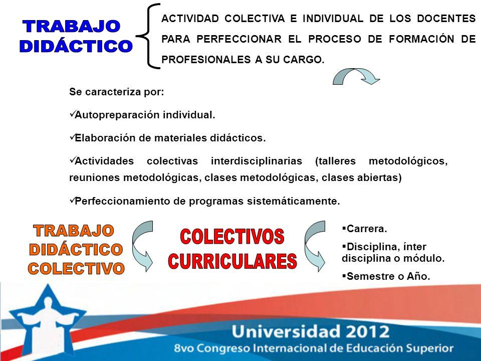 TRABAJO COLECTIVOS DIDÁCTICO CURRICULARES COLECTIVO