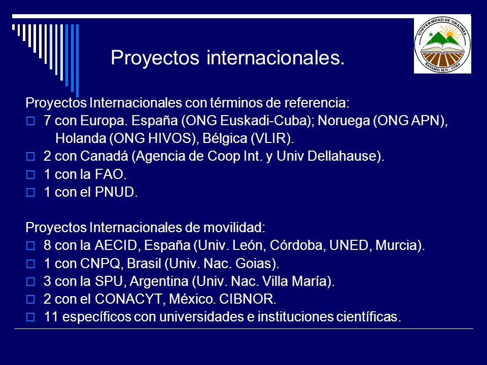 Proyectos internacionales.