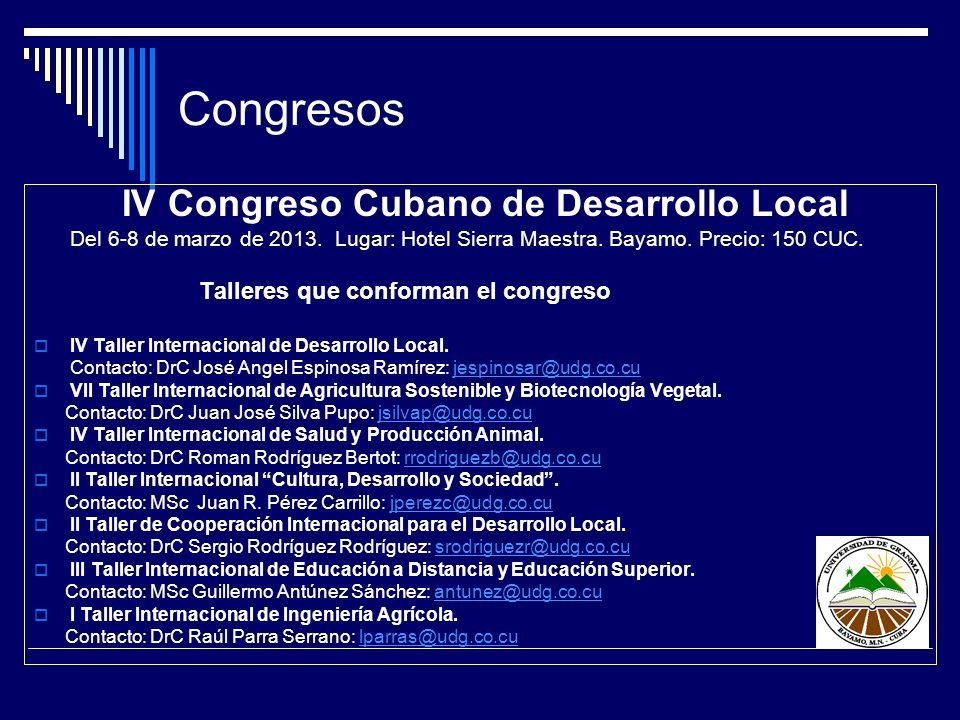 IV Congreso Cubano de Desarrollo Local