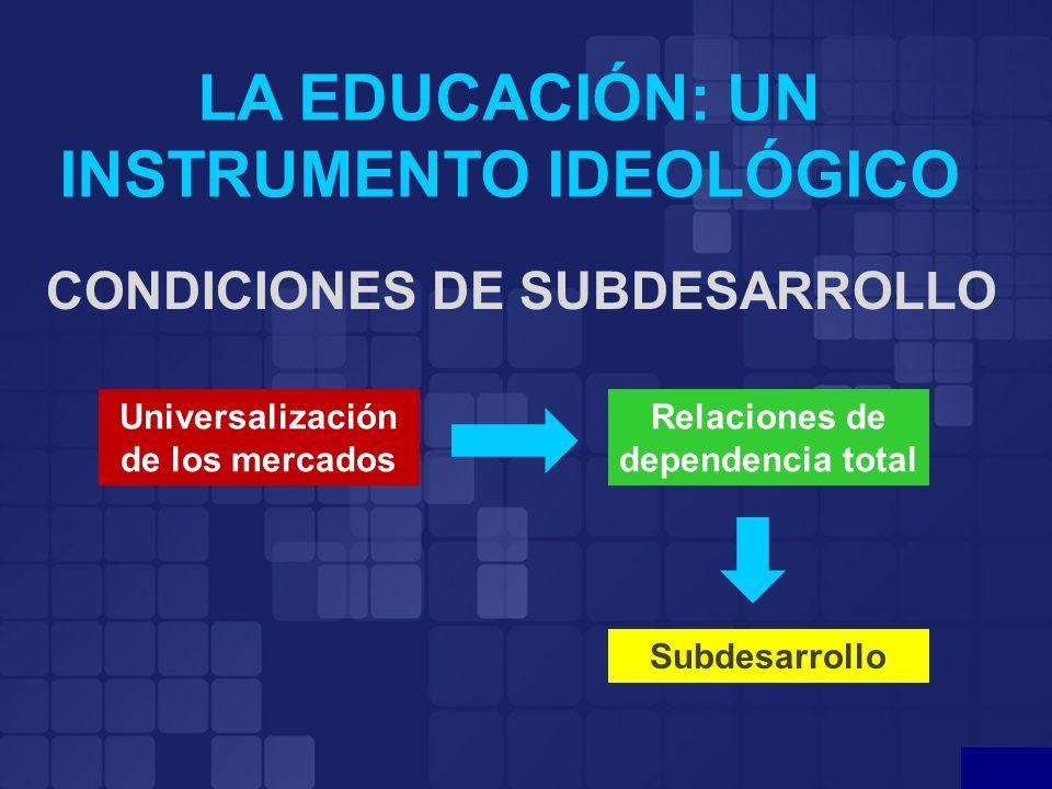 LA EDUCACIÓN: UN INSTRUMENTO IDEOLÓGICO