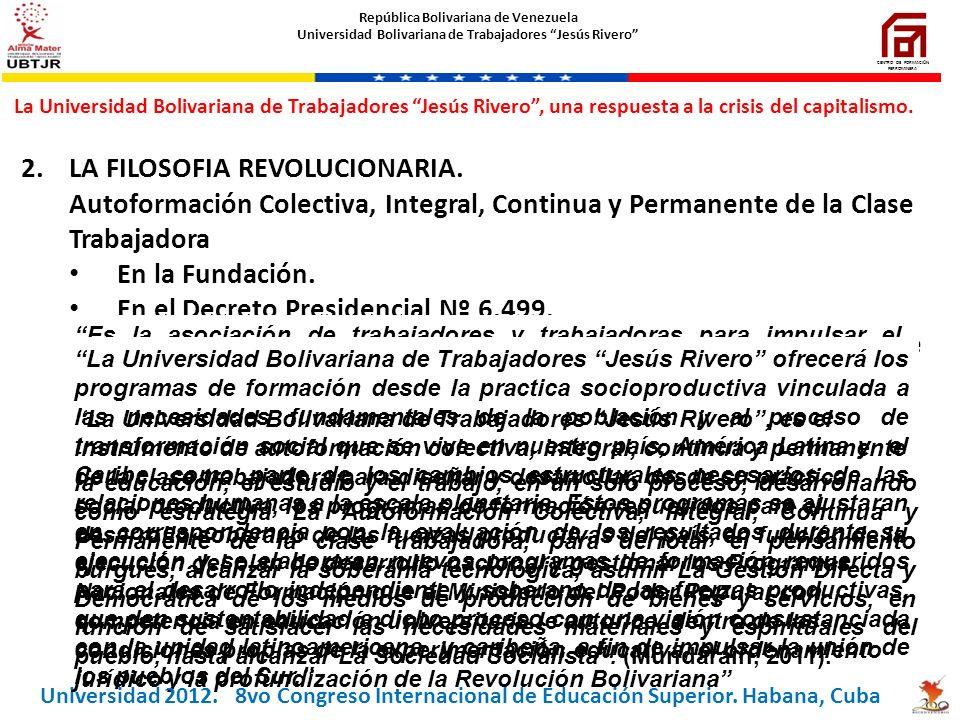 LA FILOSOFIA REVOLUCIONARIA.
