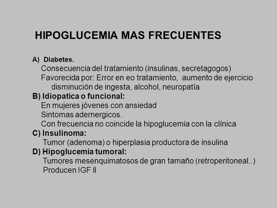 HIPOGLUCEMIA MAS FRECUENTES