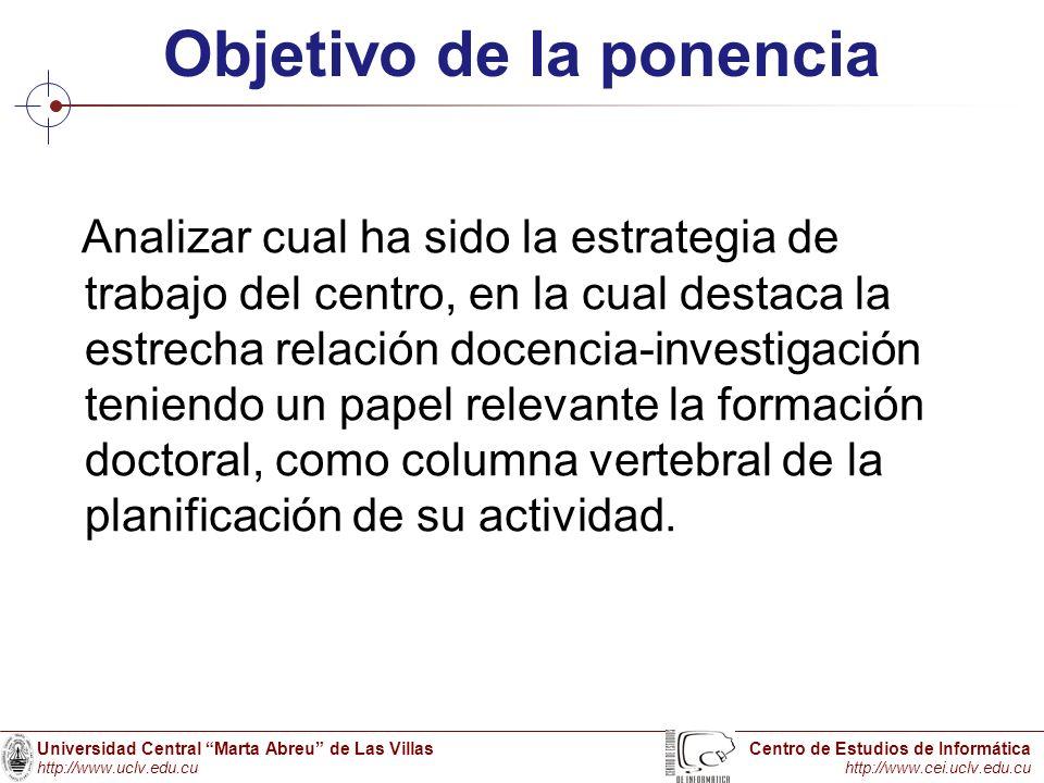 Objetivo de la ponencia