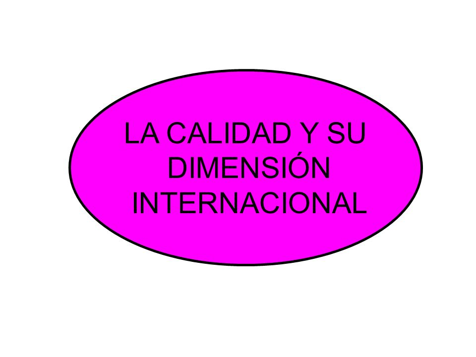 LA CALIDAD Y SU DIMENSIÓN INTERNACIONAL