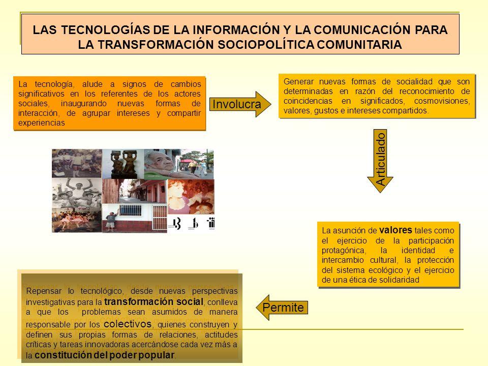LAS TECNOLOGÍAS DE LA INFORMACIÓN Y LA COMUNICACIÓN PARA LA TRANSFORMACIÓN SOCIOPOLÍTICA COMUNITARIA
