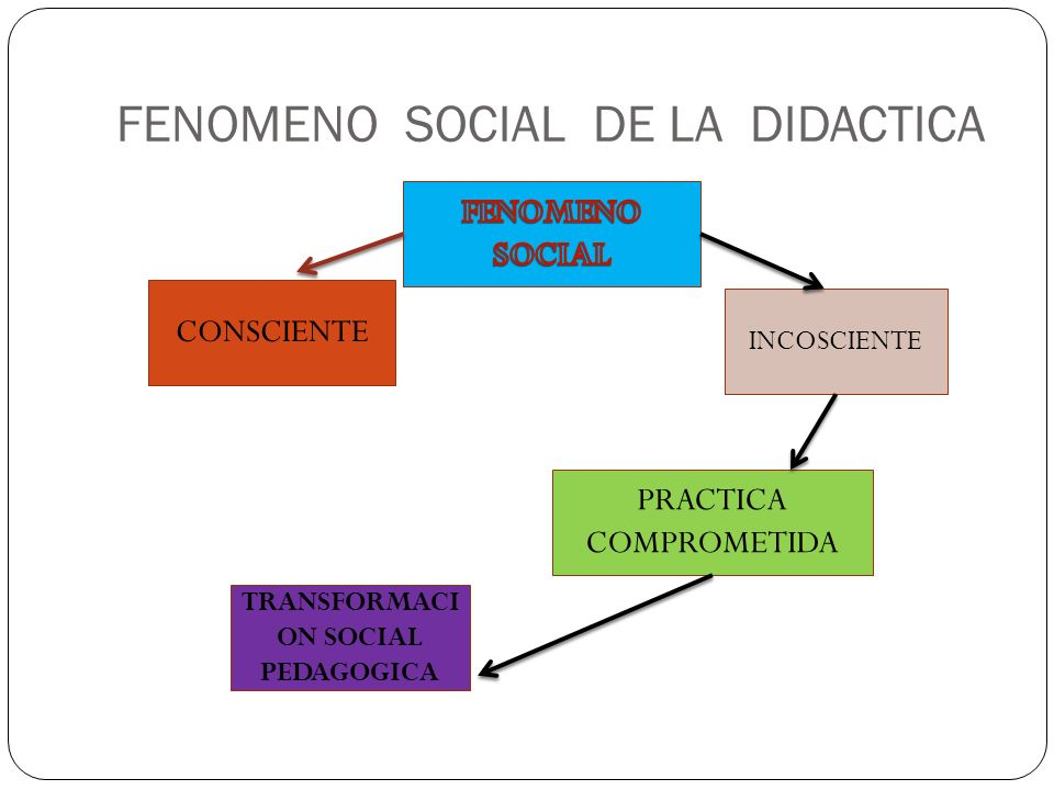 FENOMENO SOCIAL DE LA DIDACTICA