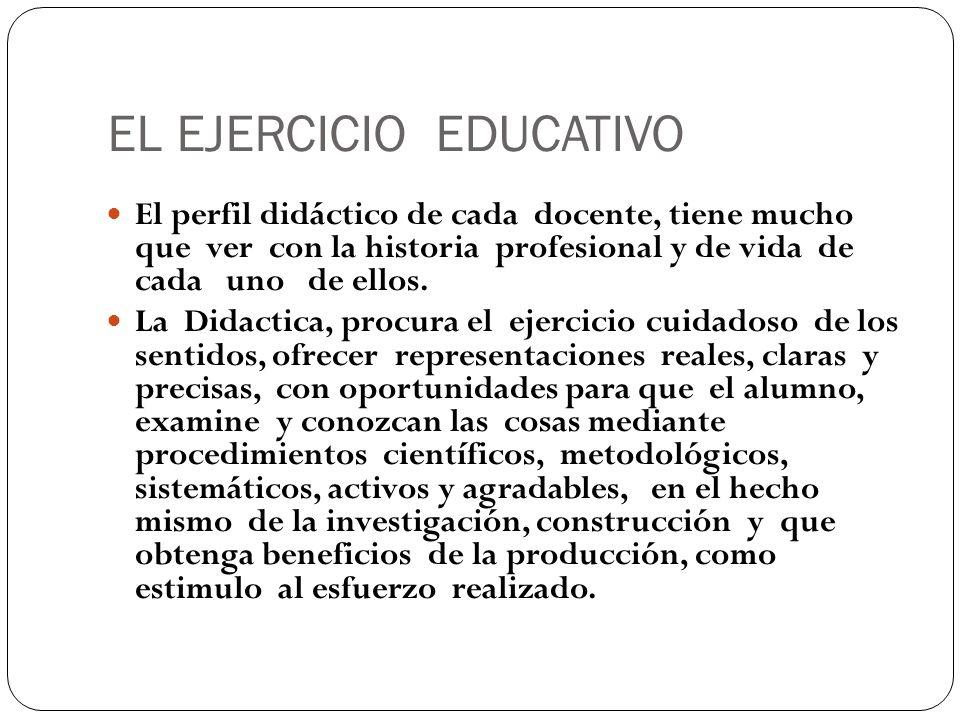 EL EJERCICIO EDUCATIVO