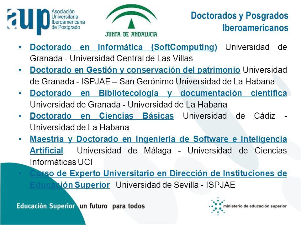 Doctorados y Posgrados Iberoamericanos