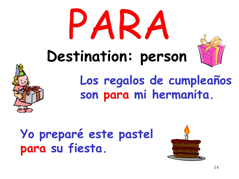 PARA Destination: person