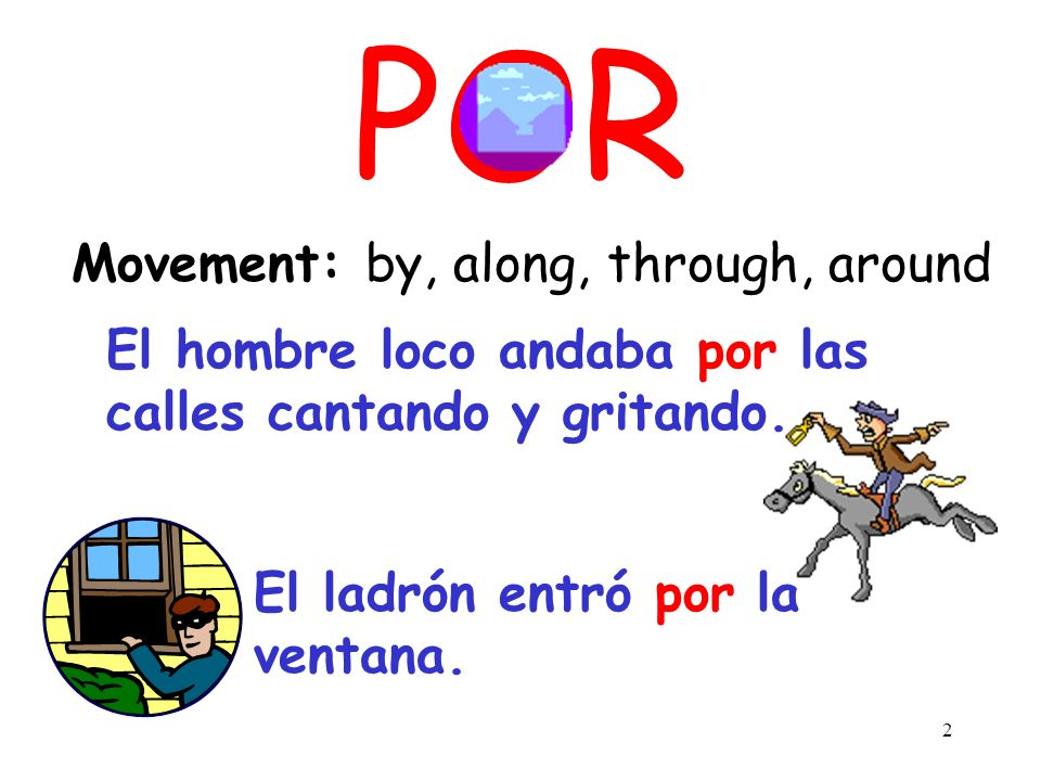 POR Movement: by, along, through, around
