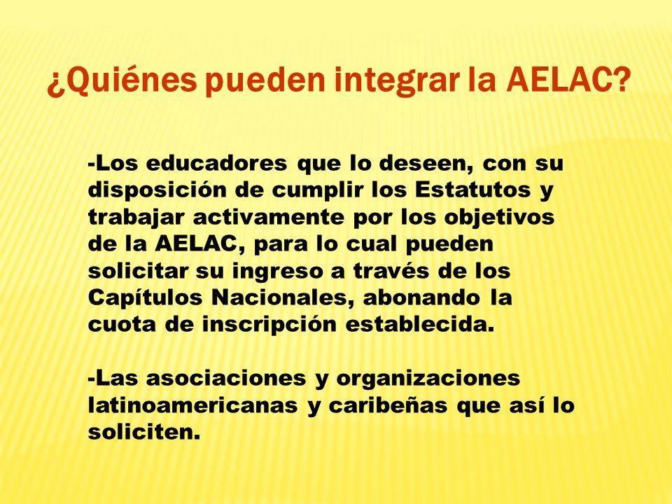 ¿Quiénes pueden integrar la AELAC