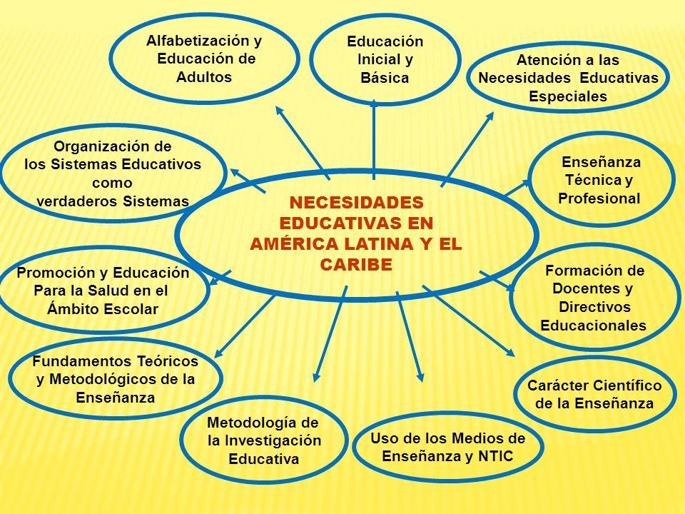 NECESIDADES EDUCATIVAS EN AMÉRICA LATINA Y EL CARIBE