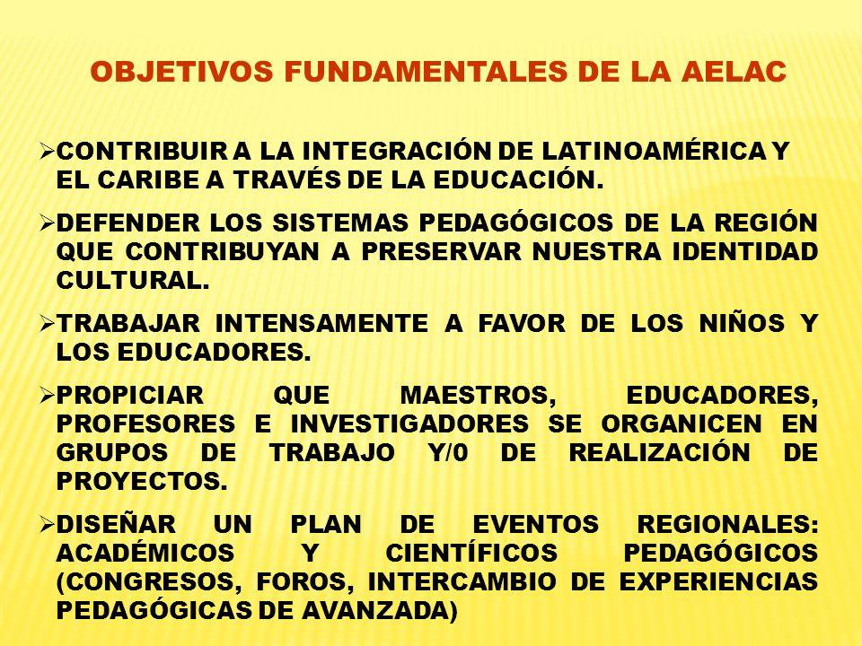 OBJETIVOS FUNDAMENTALES DE LA AELAC