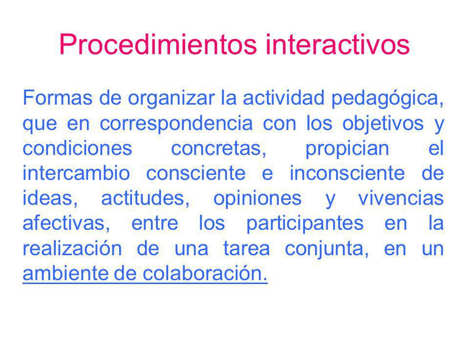 Procedimientos interactivos