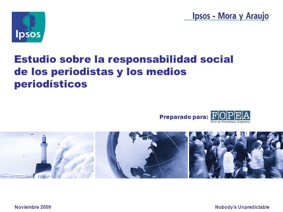 Estudio sobre la responsabilidad social de los periodistas y los medios periodísticos