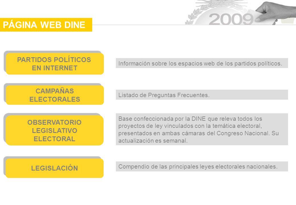 PÁGINA WEB DINE PARTIDOS POLÍTICOS EN INTERNET CAMPAÑAS ELECTORALES