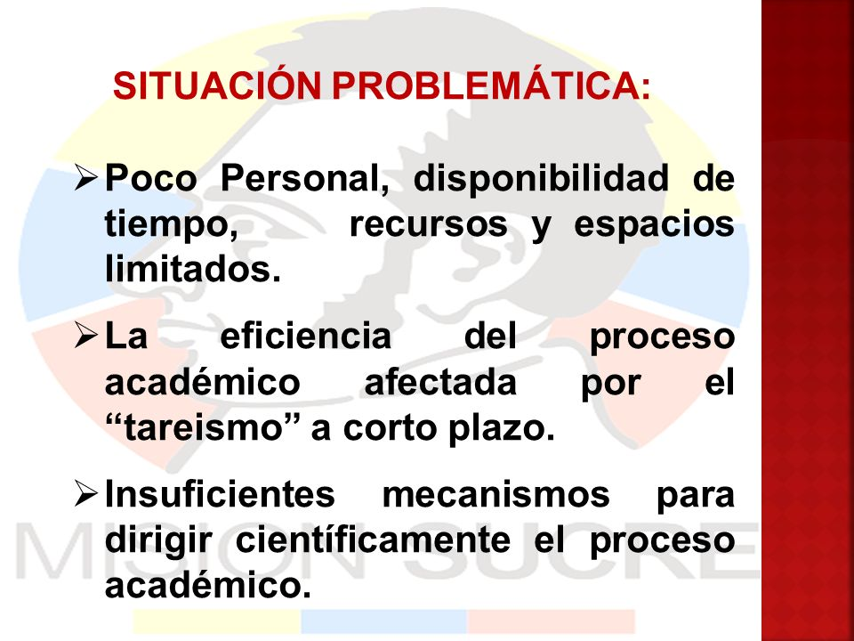 SITUACIÓN PROBLEMÁTICA: